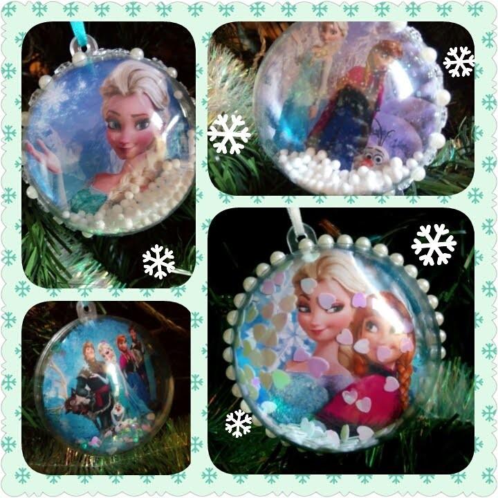 DIY boules de Noel Reine des Neiges. Frozen 's Christmas  balls (disney)
