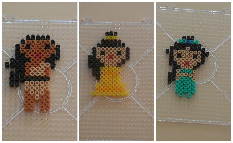 [ DIY ] Princesses Disney en perles à repasser - Perler beads Hama #2