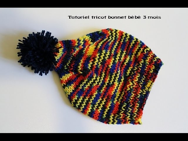 Tricot bonnet bébé tutoriel.Bonnet baby knit tutorial