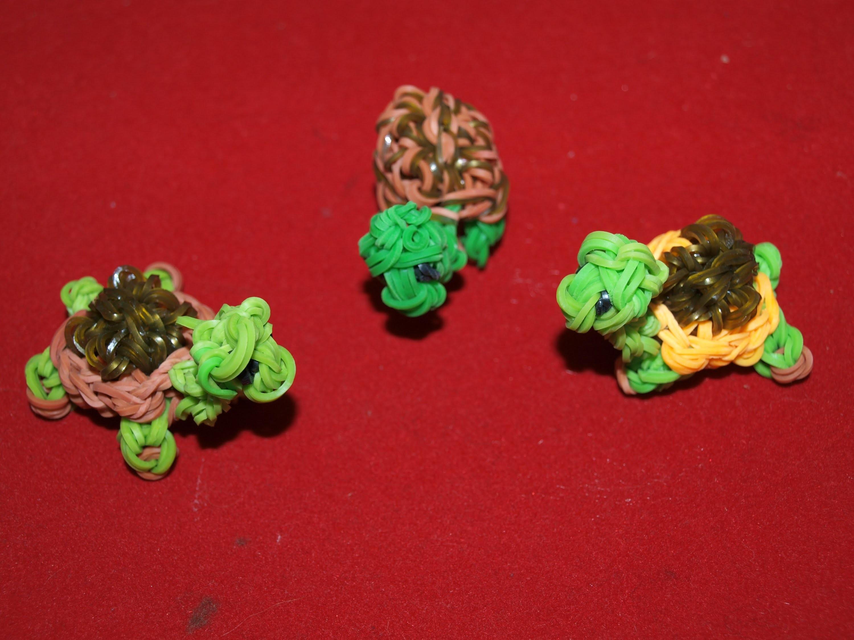 Tuto loom. Réaliser une tortue en élastiques. Tuto en français