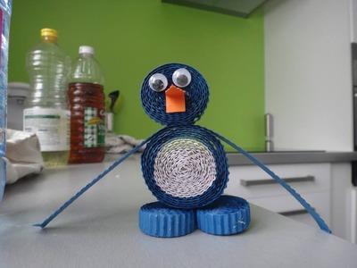 Activité enfant tuto pingouin papier diy