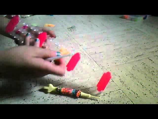 Bracelet rond ou deco crayon crochet stylo.