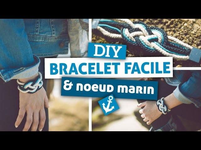DIY. Bijoux. Réaliser un bracelet facile avec la technique du noeud marin (noeuds de Carrick)