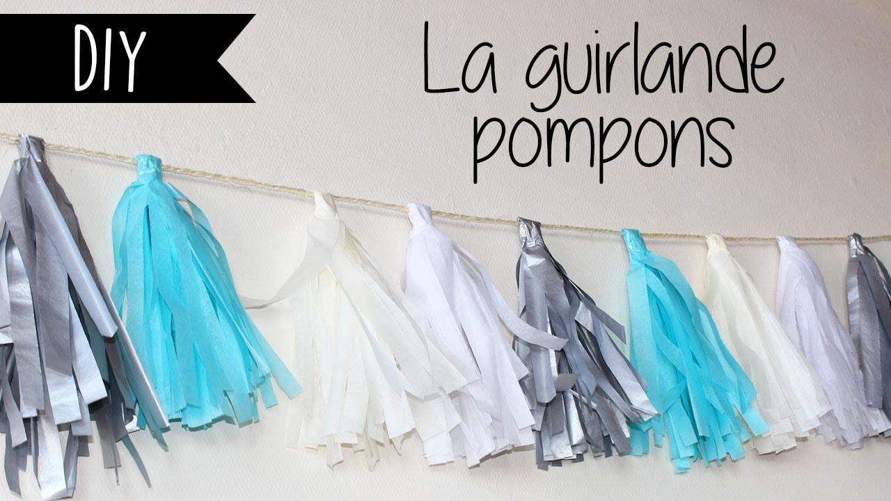 DIY : La guirlande pompons