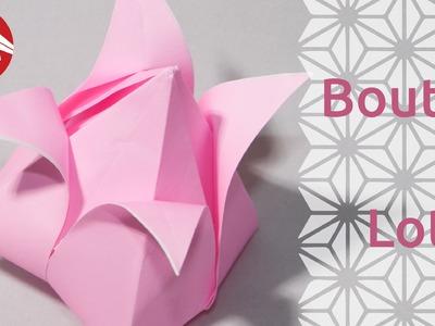 Origami - Bouton de lotus - Lotus Bud [Senbazuru]