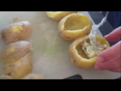 Pomme de Terre Farcie au Fromage  Blanc, Lardons : recette simple et délicieuse