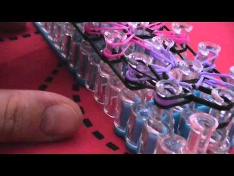 Tutoriel bracelet rainbow loom fleurs