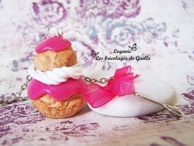 Tutoriel Fimo : la religieuse - Polymer tutorial french pastry