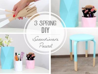 3 DIY Pastel. Scandinave