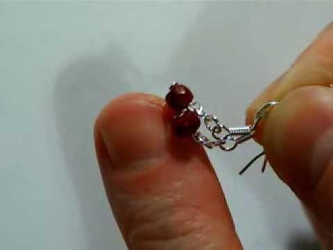 Bo32 boucles d'oreilles en rubis pierre naturelle facettée crochet en argent
