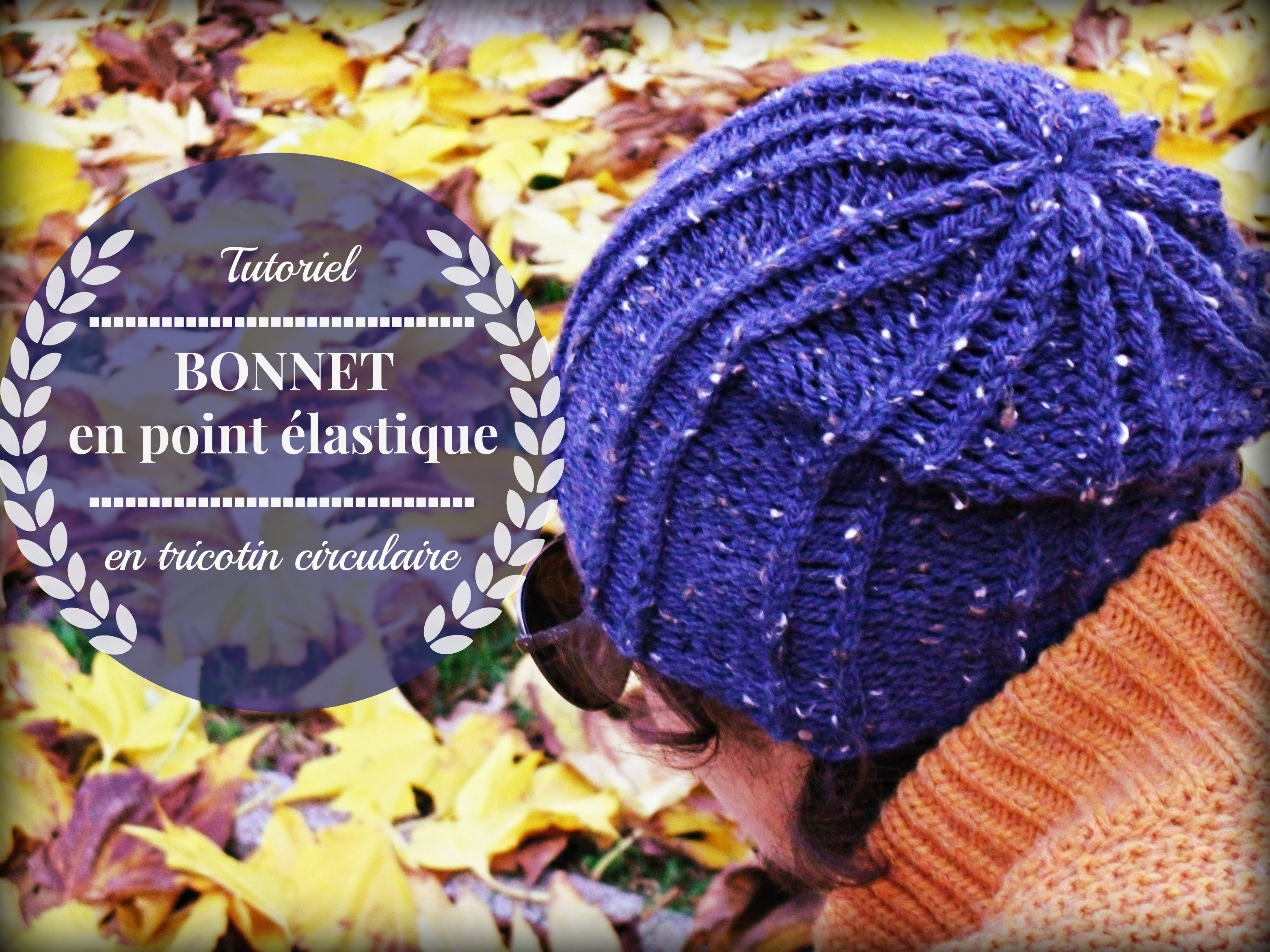 Bonnet facile en point  élastique