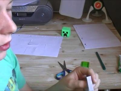 Comment réaliser un creeper en Paper Toys