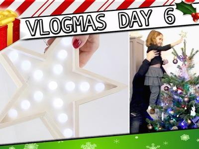 DIY étoile lumineuse et Décoration du Sapin de Noël . #Vlogmas 6