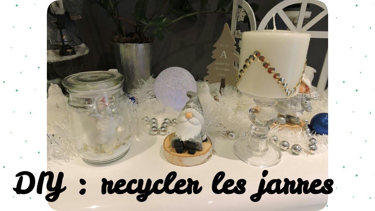 DIY : recycler une jarre de bougie, bougie déco