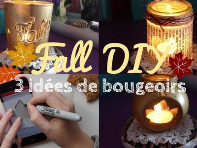• Fall DIY - 3 idées de bougeoirs •