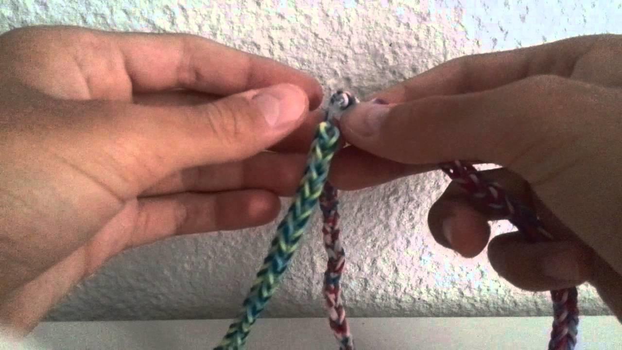 Rainbow Loom Magnifique. Bracelet Tresse