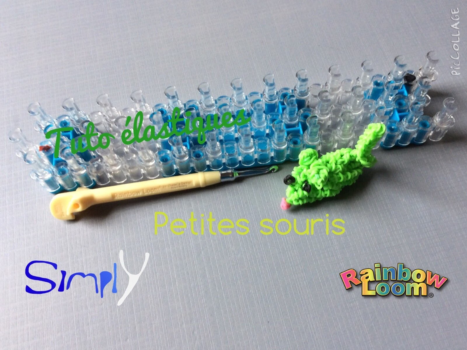 Tuto { Souris 3D en élastiques Rainbow Loom } Simply