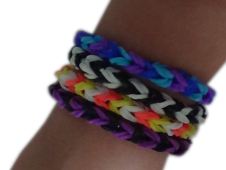 Bracelet élastique basique v2 ( rainbow loom ) Tuto #2 fr