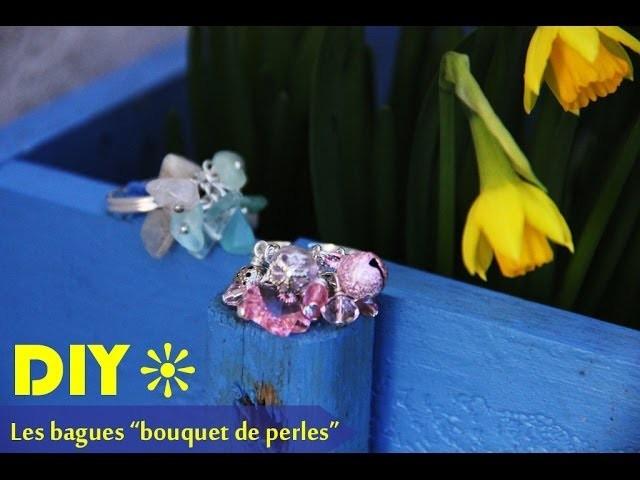 """DIY # bague """"bouquet de perles"""""""