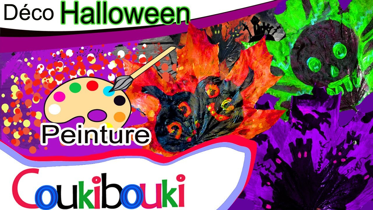 DIY Feuilles d'Halloween Cours de peinture démonstration