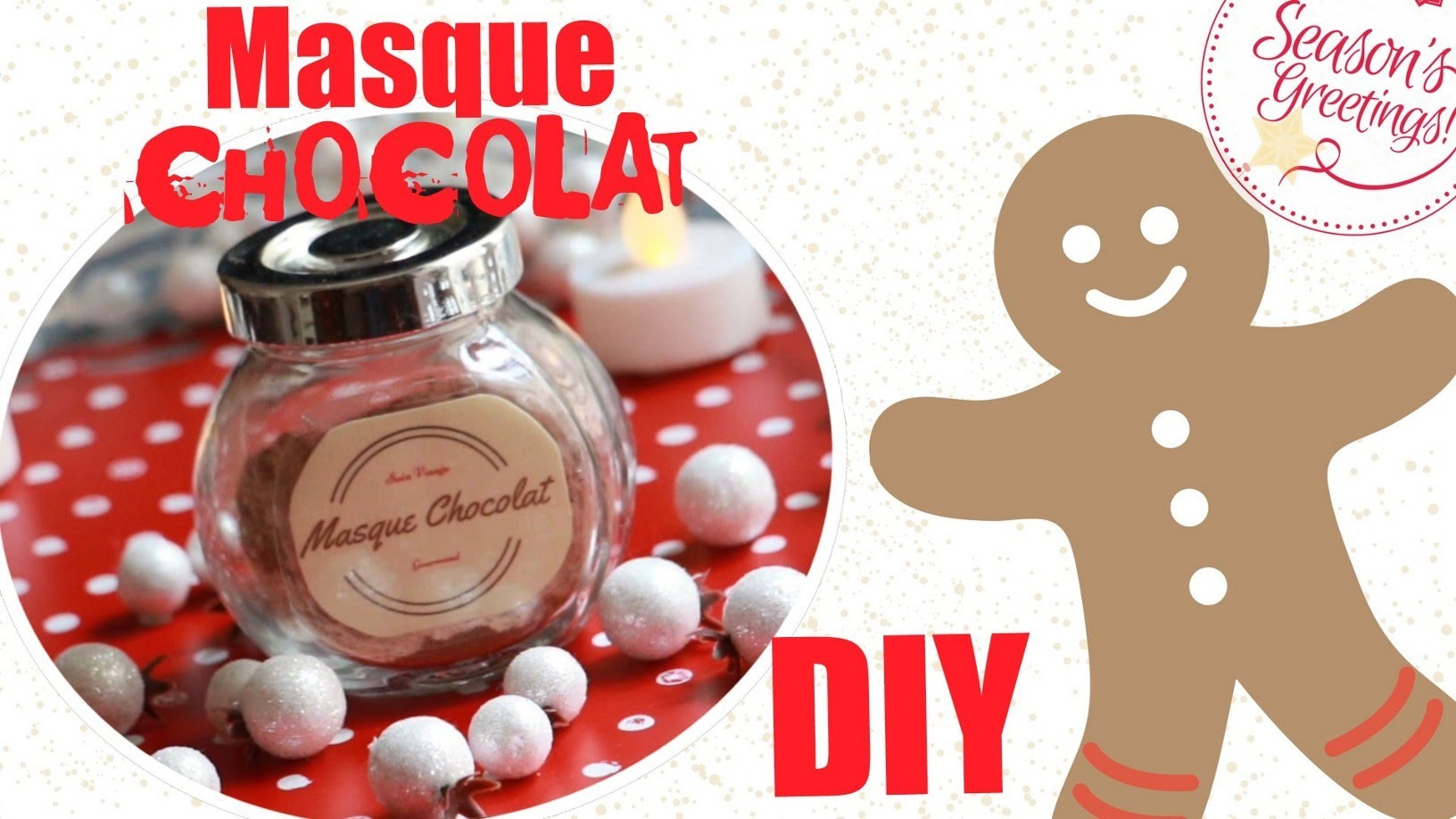 ✮ DIY ✮ Noel 2015 ✮ Masque gourmand Chocolat | Chocolate Mask | Caly Beauty