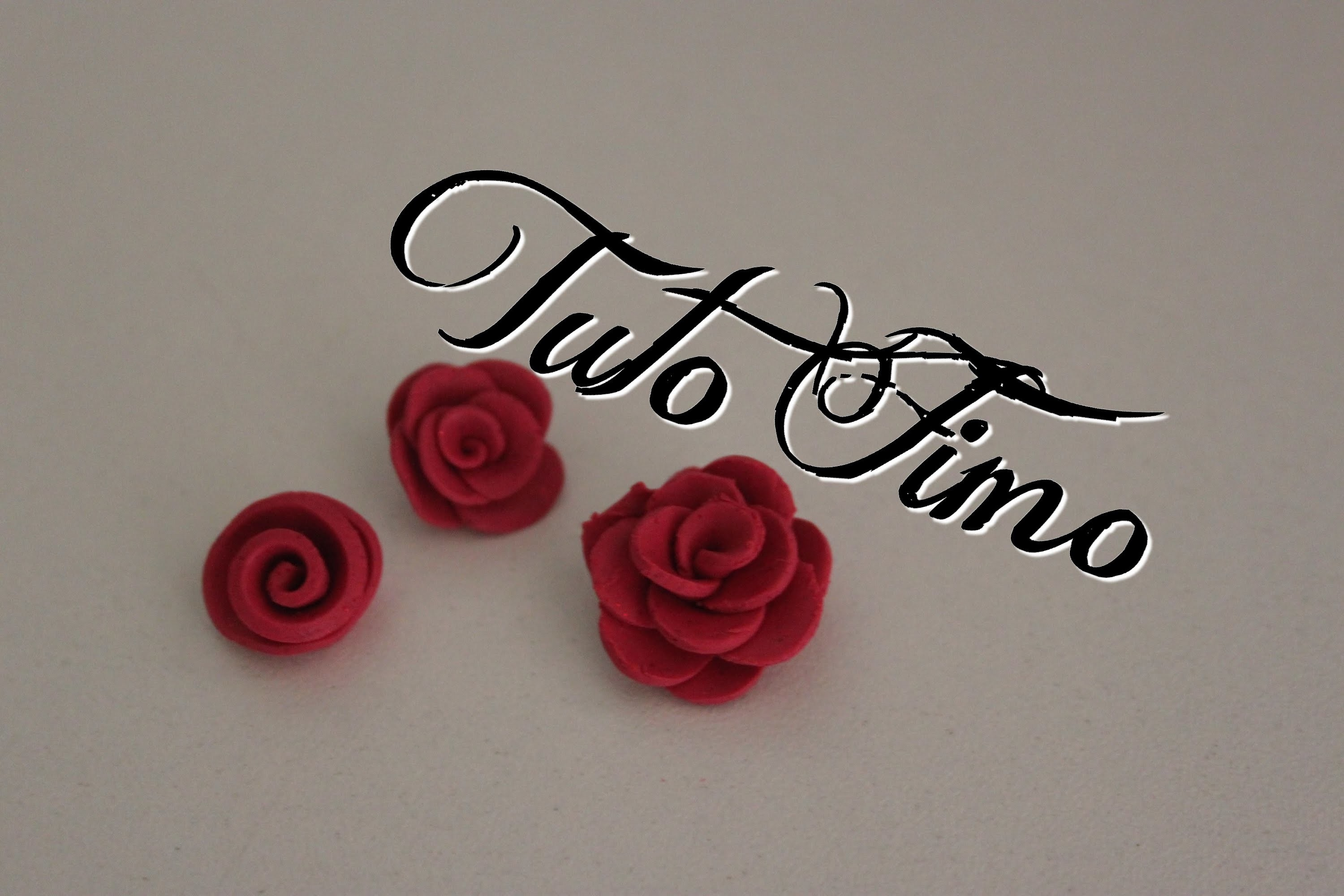 [♥✿ Tuto Fimo : La rose (3 techniques) ✿♥] ~ [♥✿ Polymer Clay Tutorial : 3 Roses ✿♥]