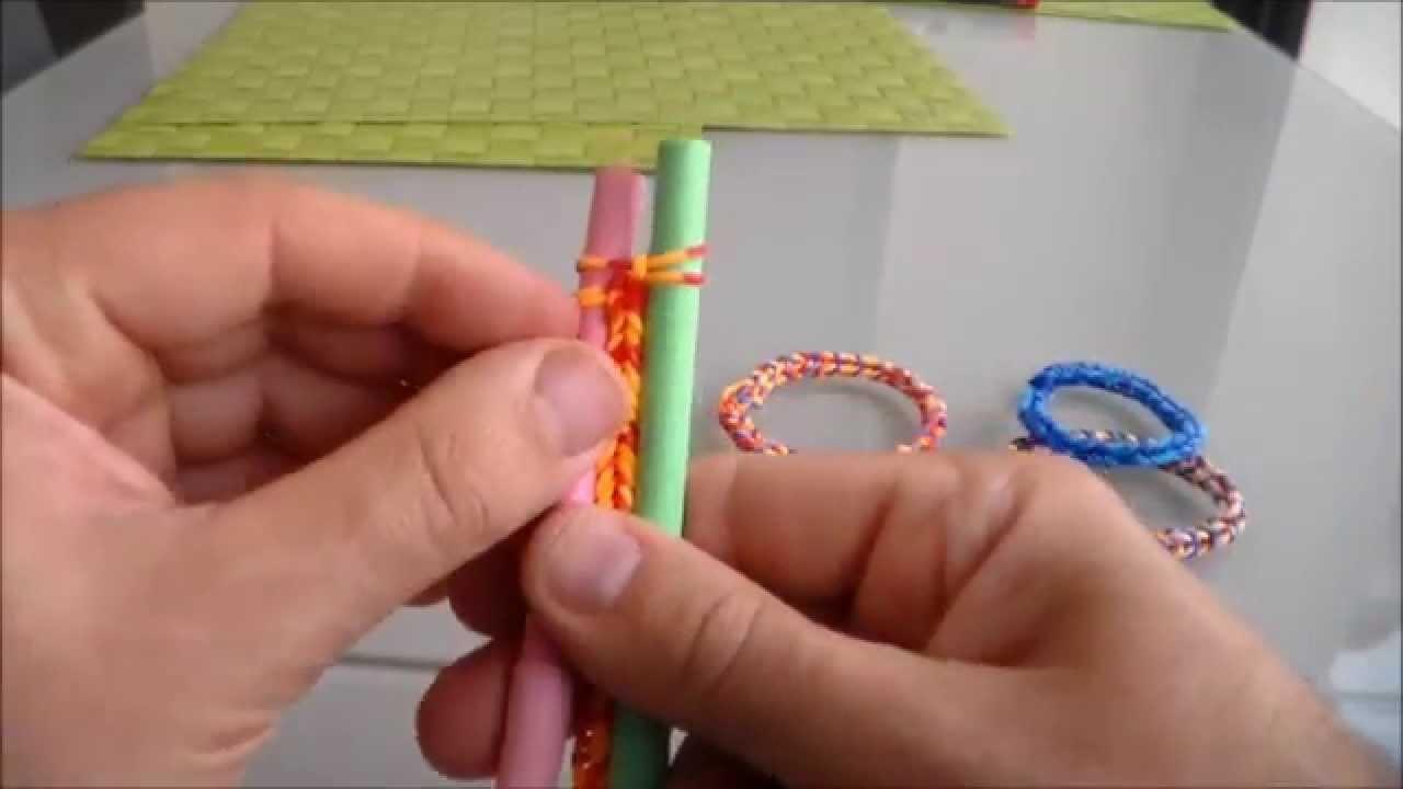 Comment faire un bracelet superbe avec elastiques,how to make a bracelet with elastic