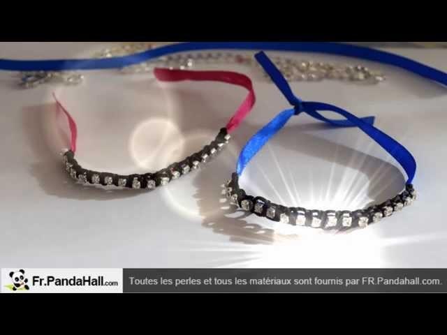 DIY Bracelet Facile avec ruban et strass