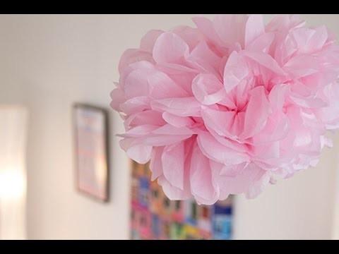 DIY Déco :  Pompon-fleur en papier de soie