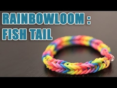 Bracelet Rainbow loom Fish Tail arc-en-ciel