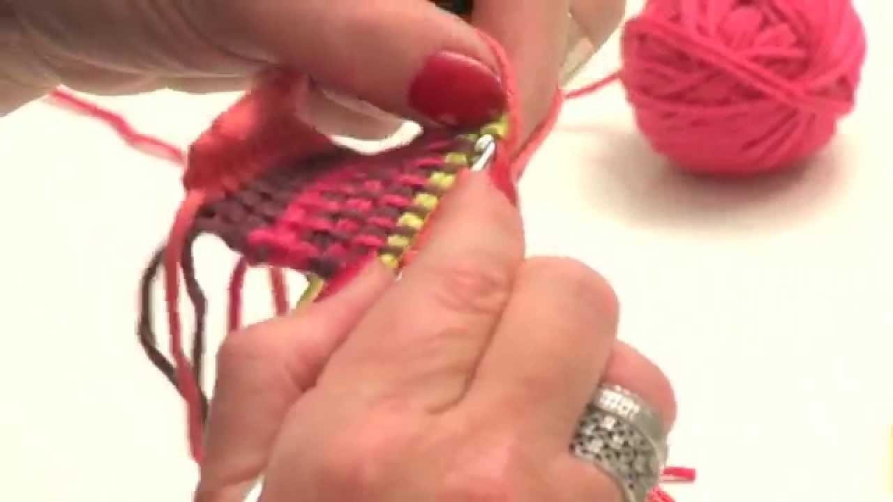 Crochet tunisien : les rayures de plusieurs couleurs - L'atelier Edisaxe