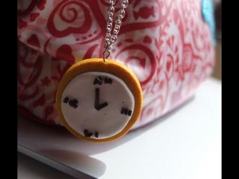 { D.I.Y. } - Horloge en pâye polymer. Clock in polymer clay ♥