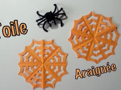 DIY Déco Halloween Toile D'araignée en papier