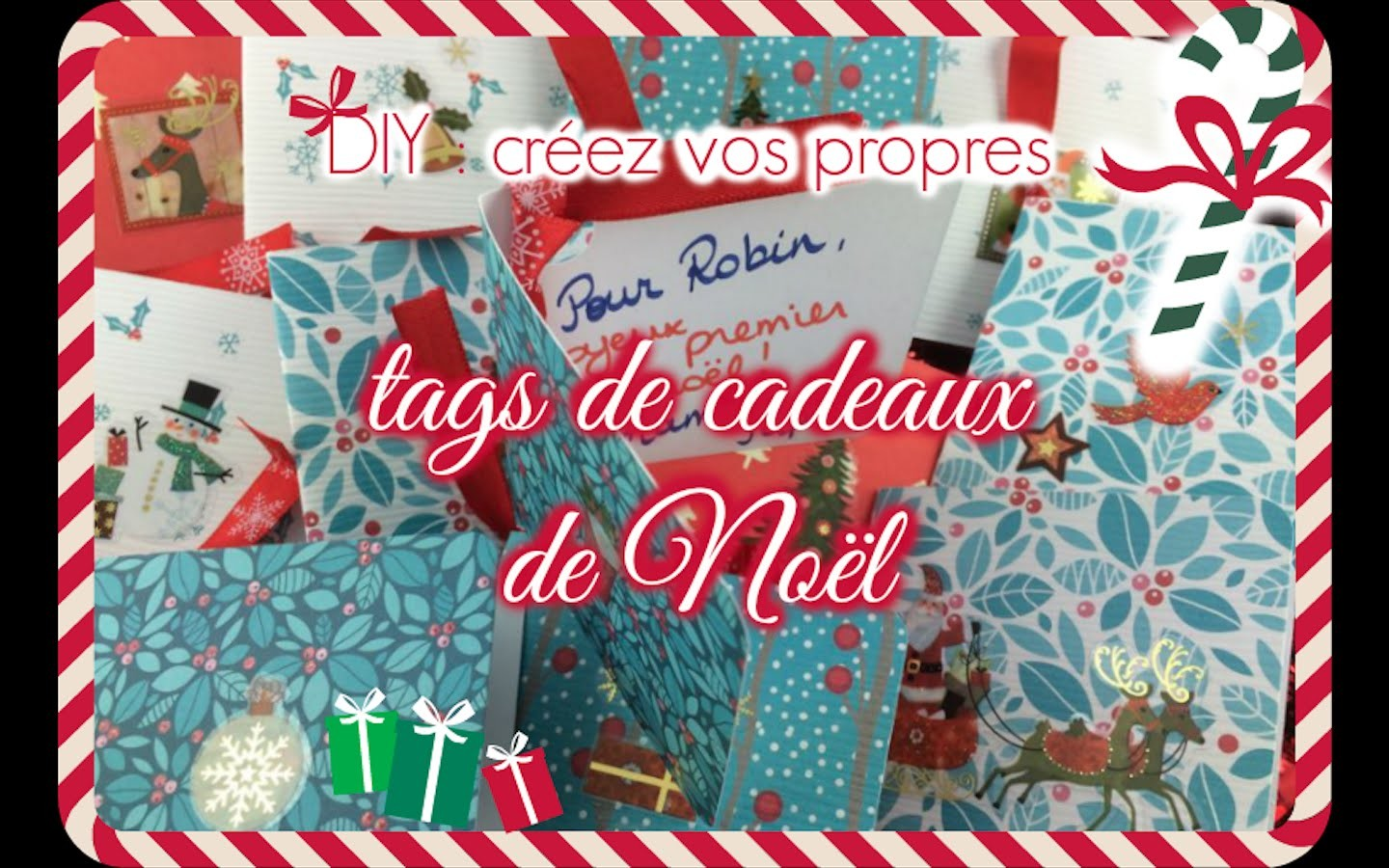 DIY - ETIQUETTES DE NOËL. CHRISTMAS TAGS | HAPPYNS