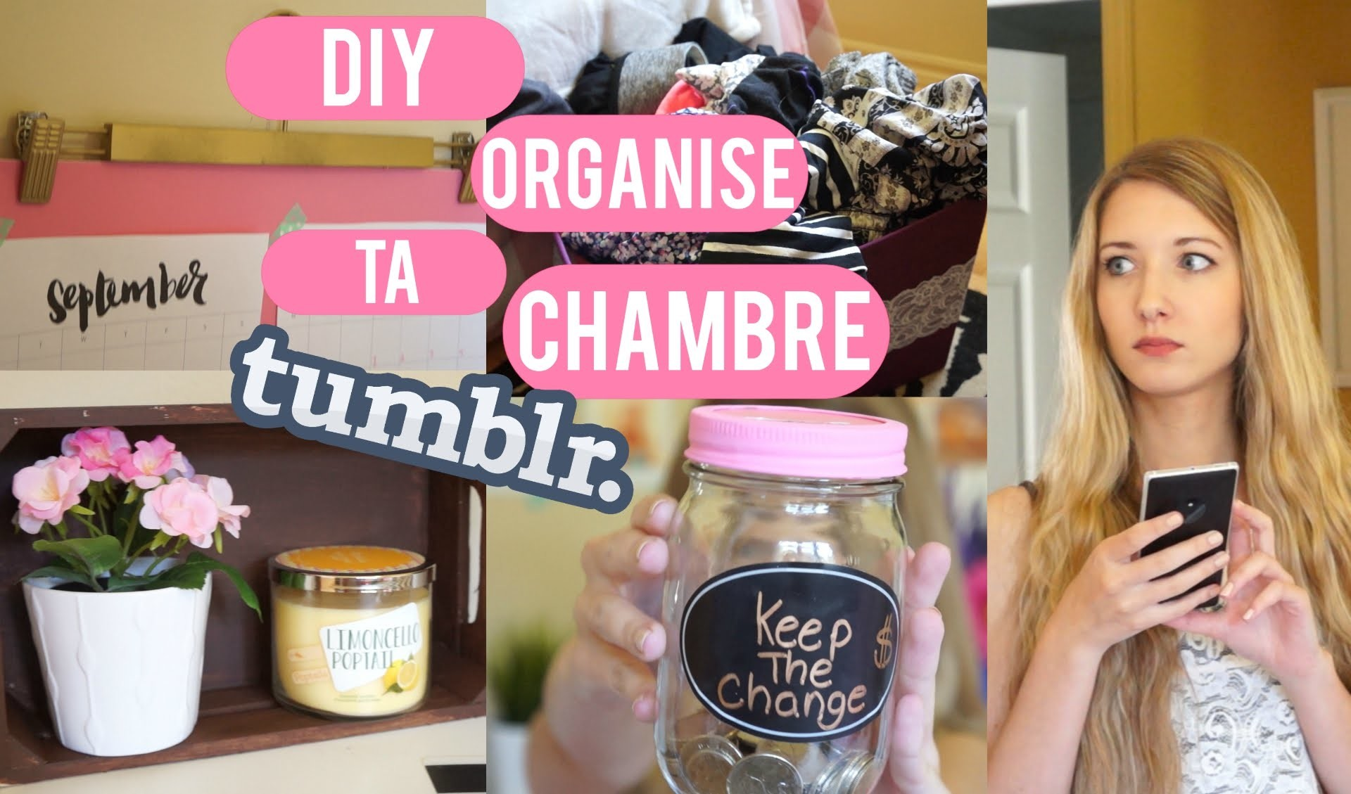 DIY | Organise ta chambre inspiration TUMBLR !