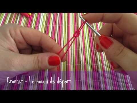 Le nœud de départ d'une création au crochet