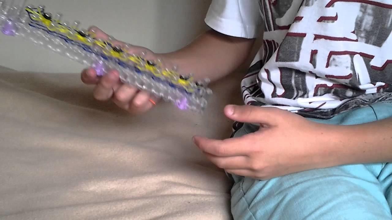 Tuto:  bracelet fleur Rainbow loom partie 1