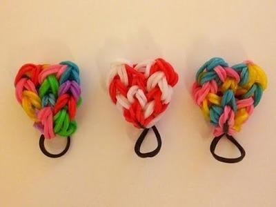 ✿ [TUTO FR] Crazy. Rainbow Loom coeur rouge et blanc ✿