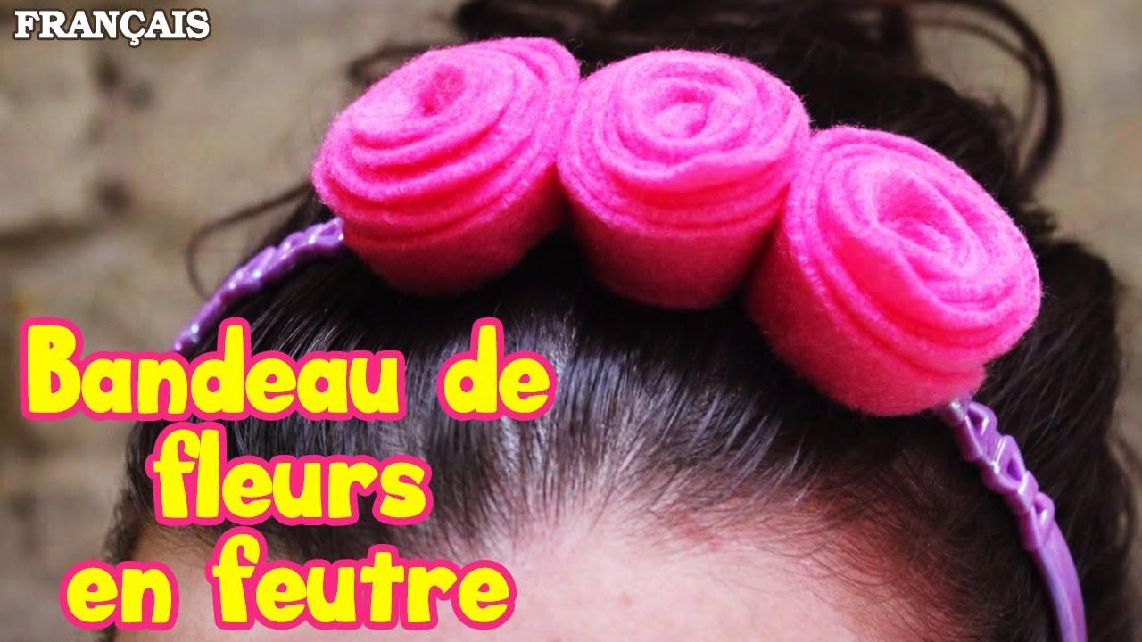Comment Faire Bandeau de Fleurs en Feutre | How to Make Felt Flower Headband | DIY French Videos