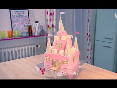 Comment faire un Gâteau de Princesse. How to make a princess castle cake