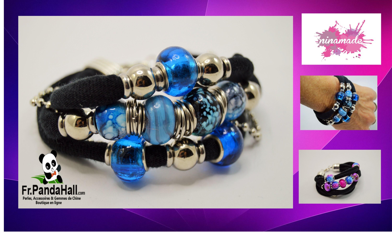 DIY. Tuto16. Bracelet avec du t-shirt. Fr.PandaHall.com
