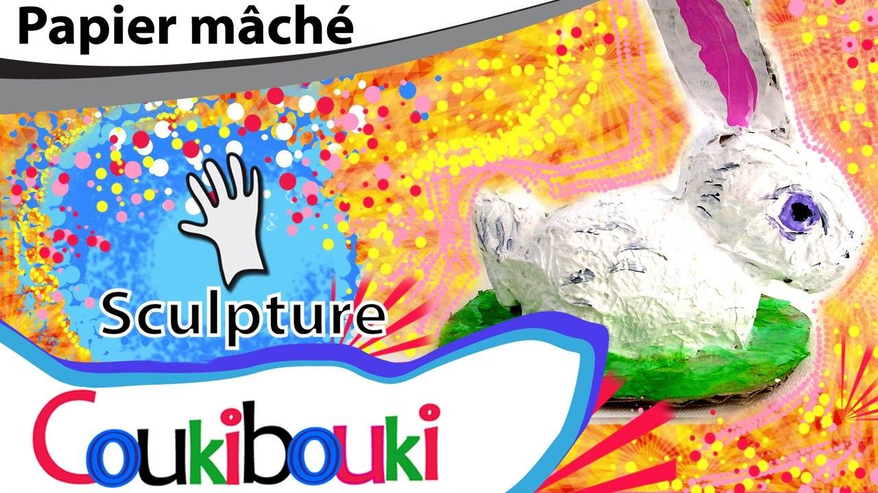 LAPIN de Pâques - COURS - Easter Bunny paper mache COUKIBOUKI - sculpture en papier mâché