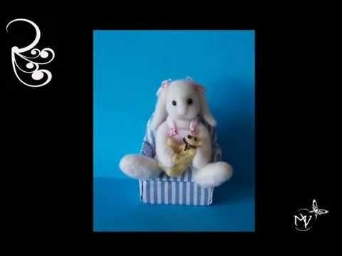Ours en laine cardées miniatures