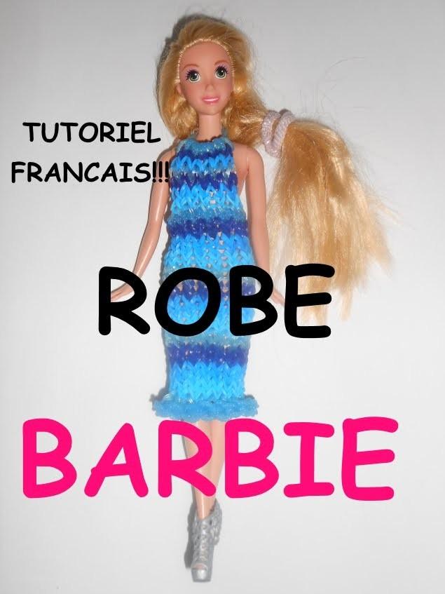 ROBE BARBIE EN ELASTIQUE LOOM TUTORIEL FRANCAIS
