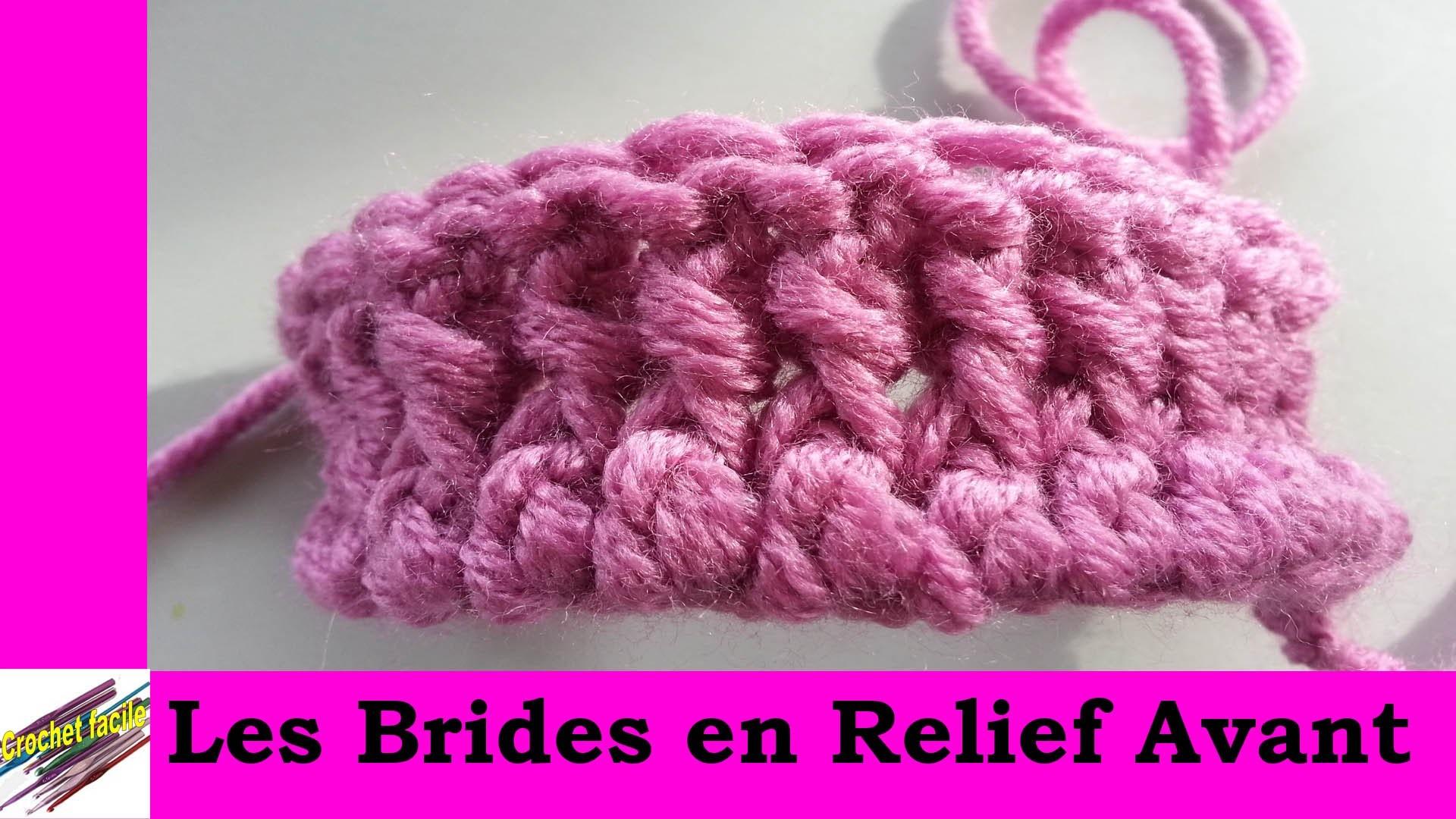 Technique de crochet : la bride en relief avant