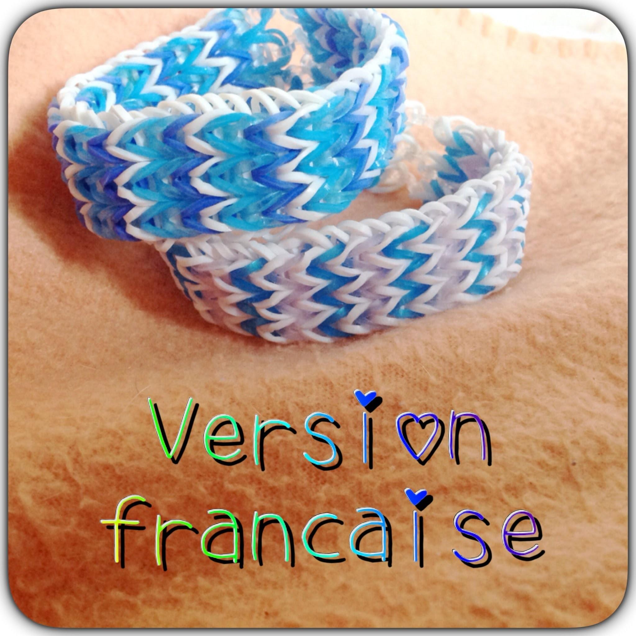 Tuto bracelet en elastique , rainbow loom VF