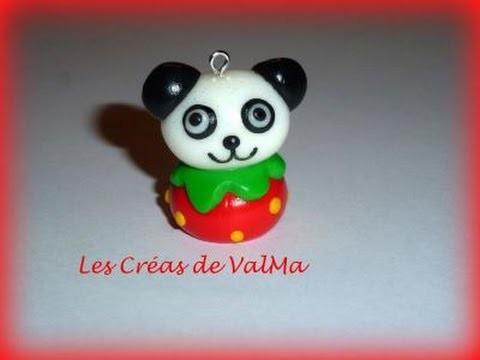 Tuto fimo Panda Fraise. Polymer Clay Tutorial