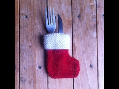 Tuto tricot :Bottes de noël porte couverts. stockings christmas knit