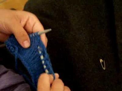 Apprendre à tricoter : rattraper une maille dans un tricot