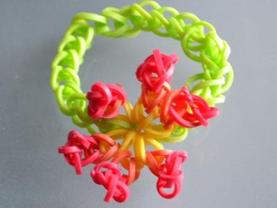 Bracelet élastique fleur : tutoriel rainbow loom francais flower DIY
